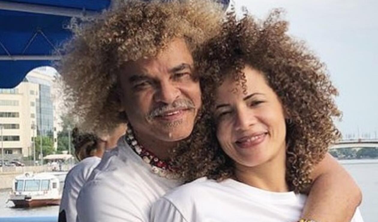 Carlos Valderrama y Elvira Redondo, su esposa