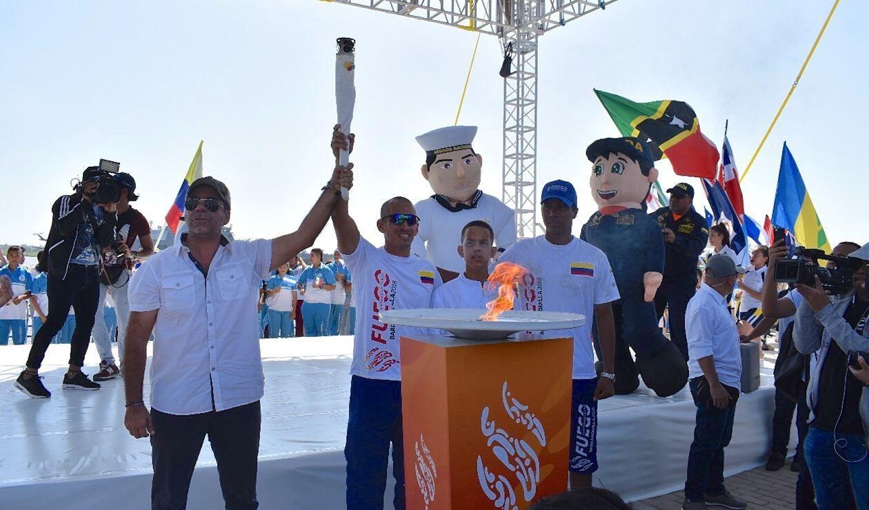El fuego de los Juegos Centroamericanos y del Caribe presente en Barranquilla