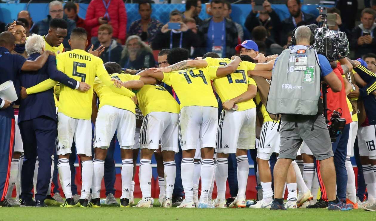 Colombia reunido antes del partido del partido ante Inglaterra