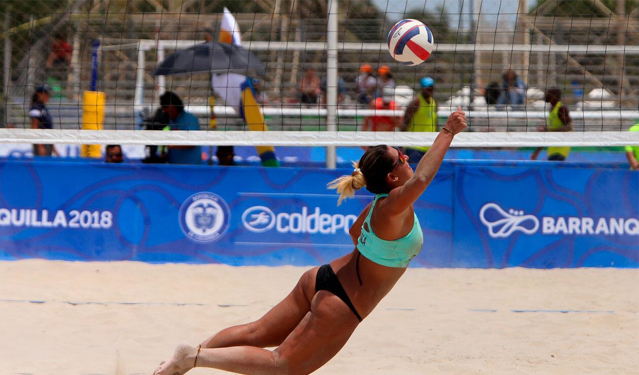 El voleibol playa hizo su aparición en los Juegos Centroamericanos y del Caribe Barranquilla 2018