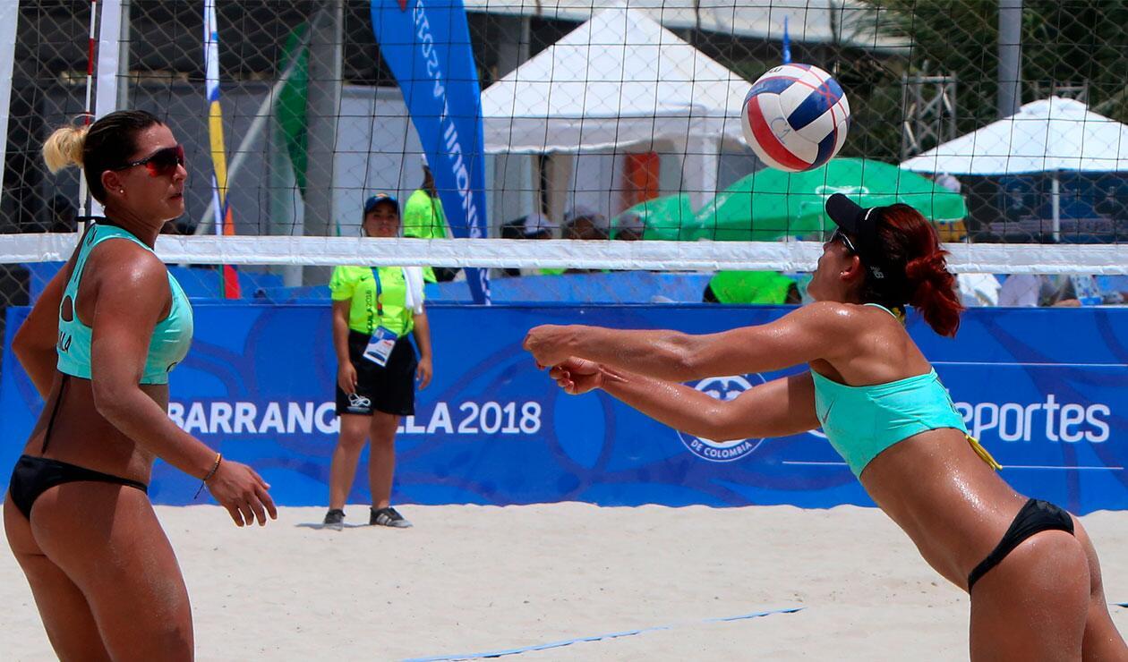 Yuli Ayala y Diana Ríos de Colombia en los  Juegos Centroamericanos y del Caribe Barranquilla 2018