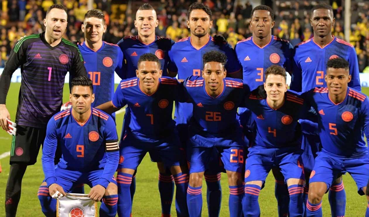 Colombia formada en el Mundial de Rusia 2018