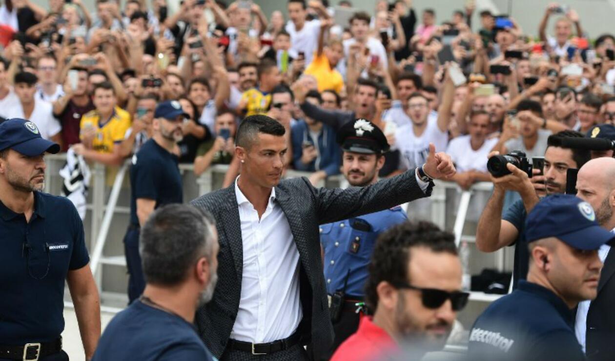 Cristiano Ronaldo llegó a la Juventus