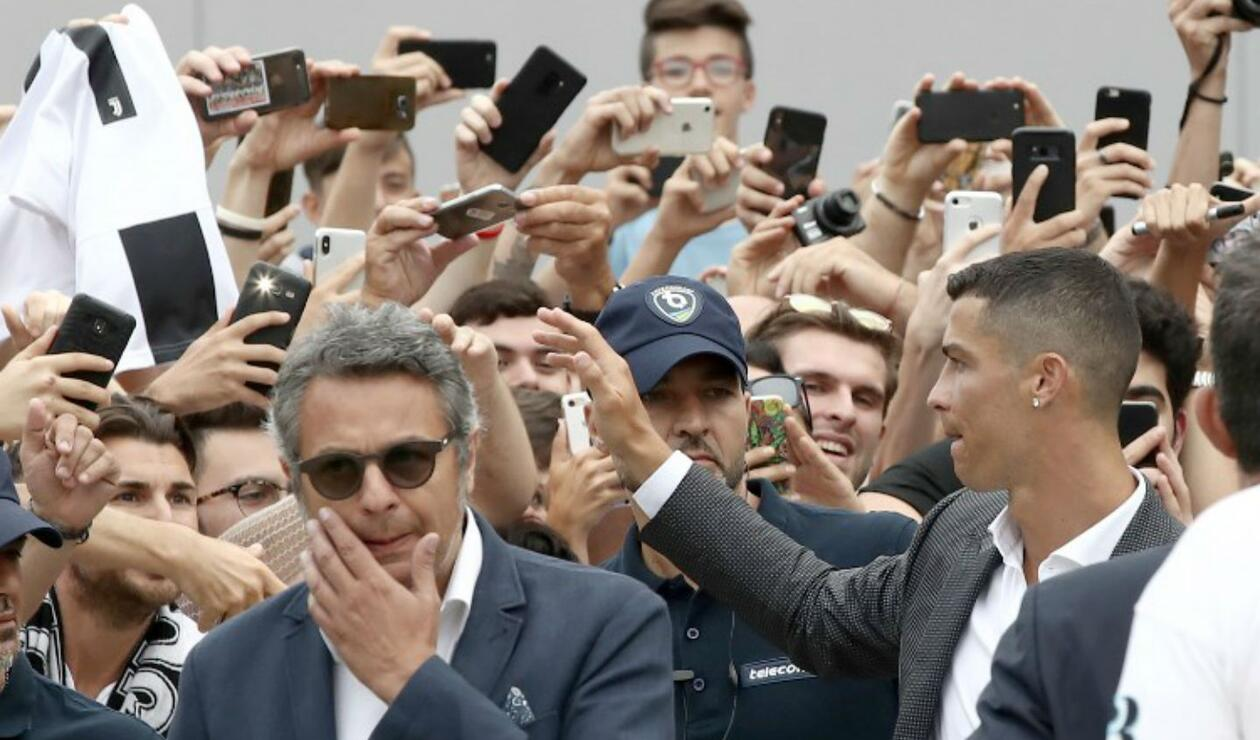 Recibimiento de Cristiano Ronaldo en Italia