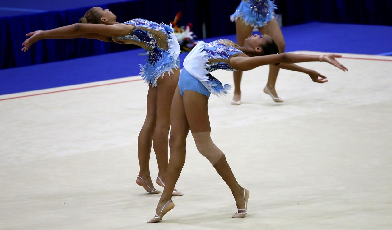 Cuba mostrando su potencial en la gimnasia rítmica por equipos