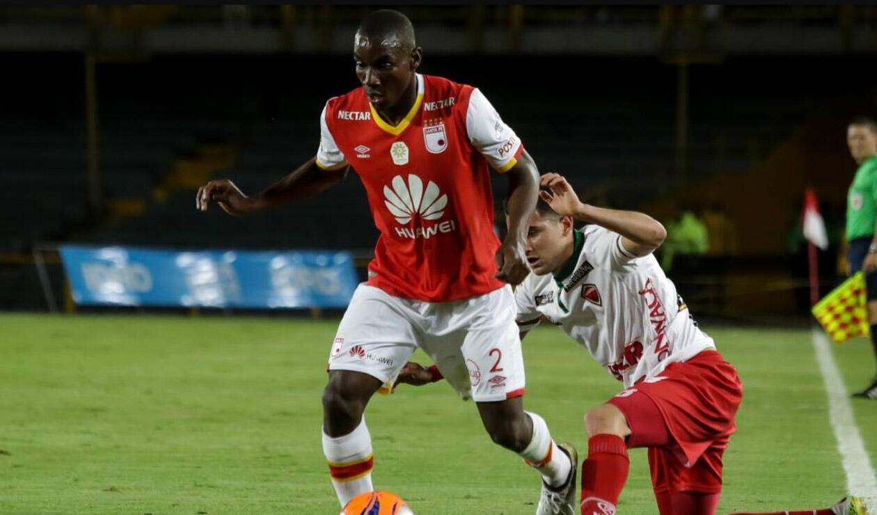 Dairon Mosquera jugando con Independiente Santa Fe