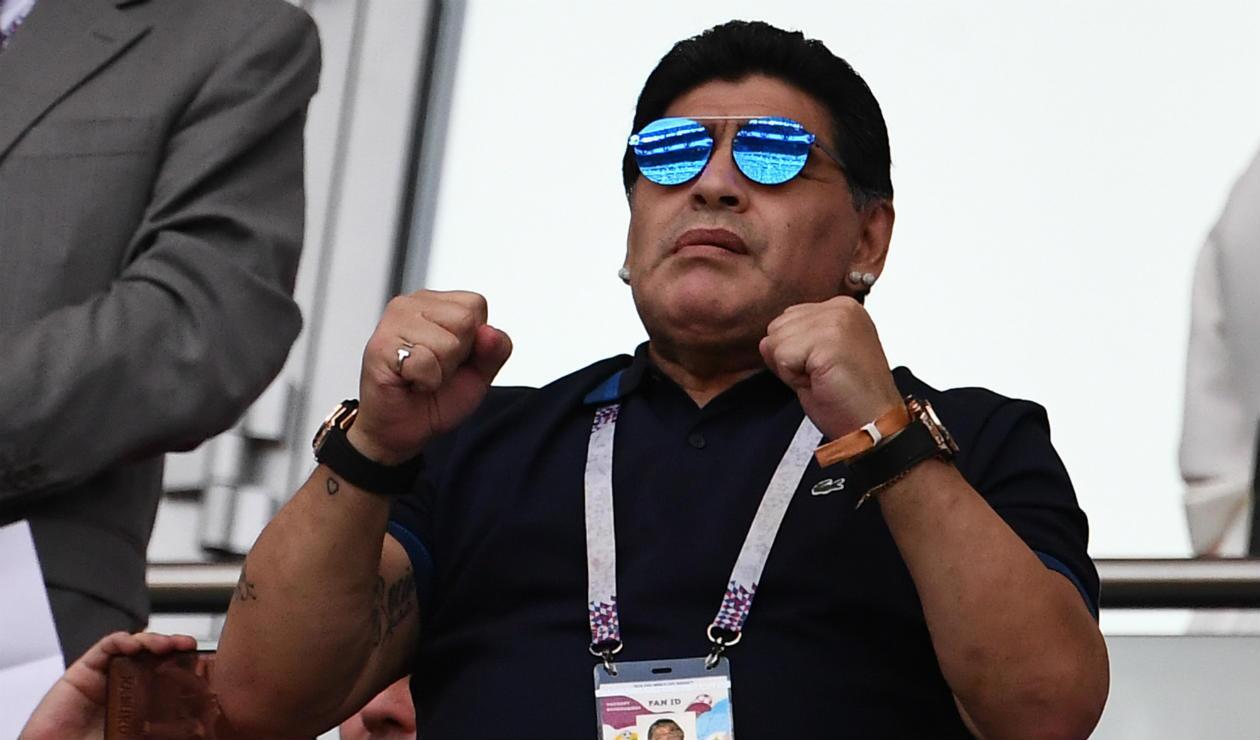 Diego Maradona en Rusia 2018