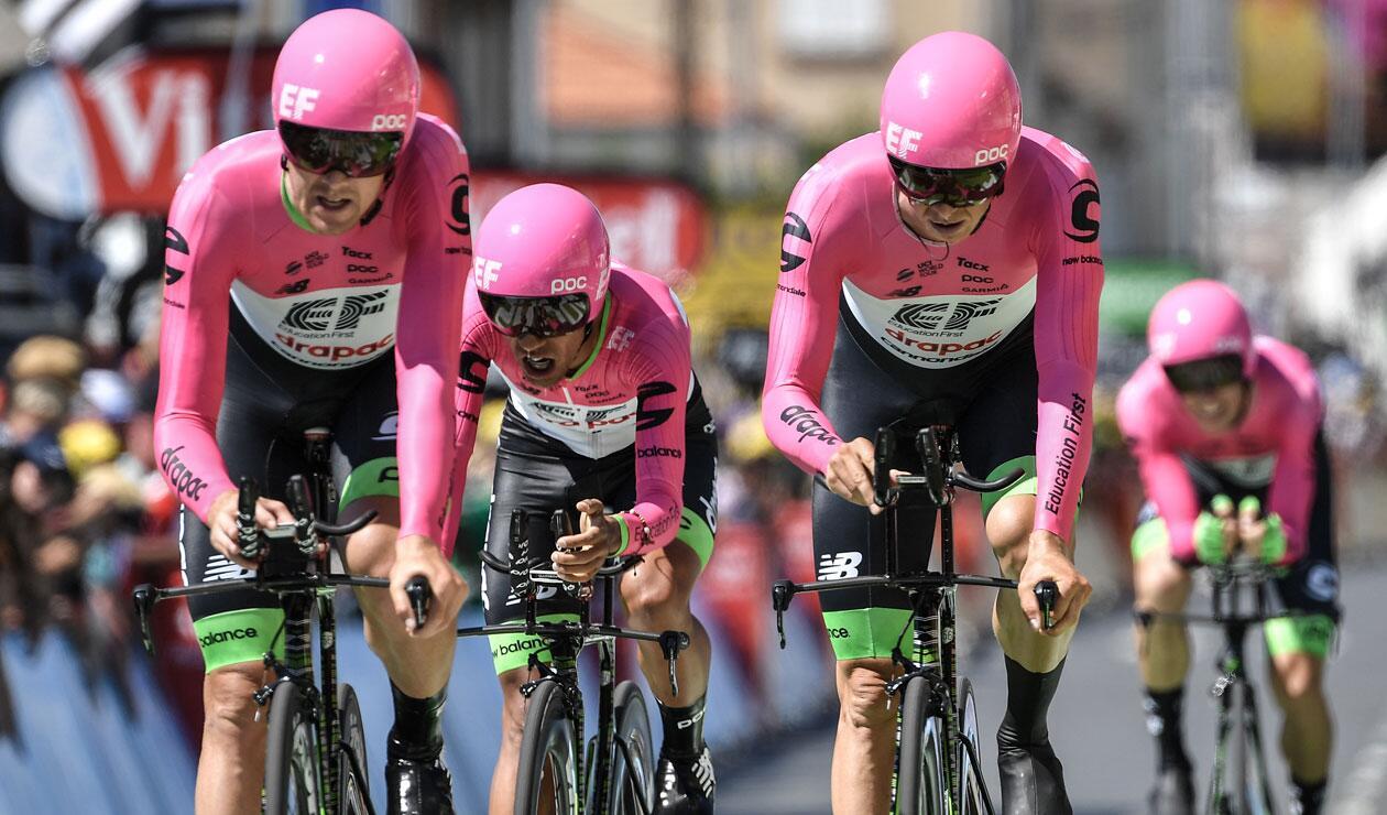 El Education First comandado por Rigoberto Urán en el Tour de Francia