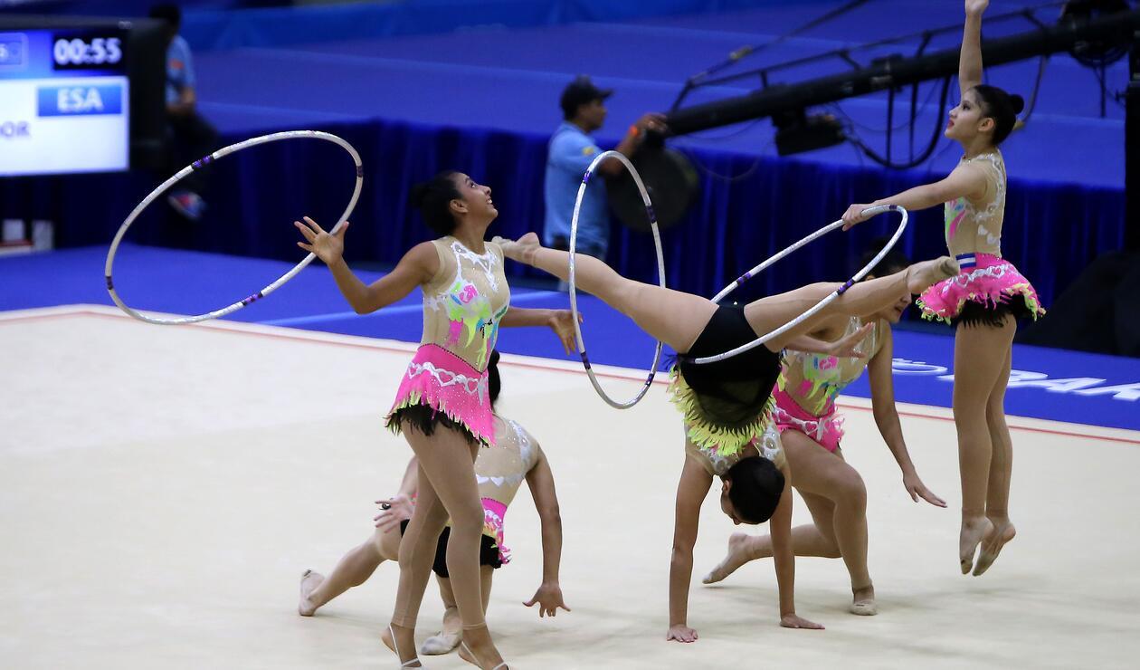 El Salvador también contó con representación en la gimnasia rítmica por equipos