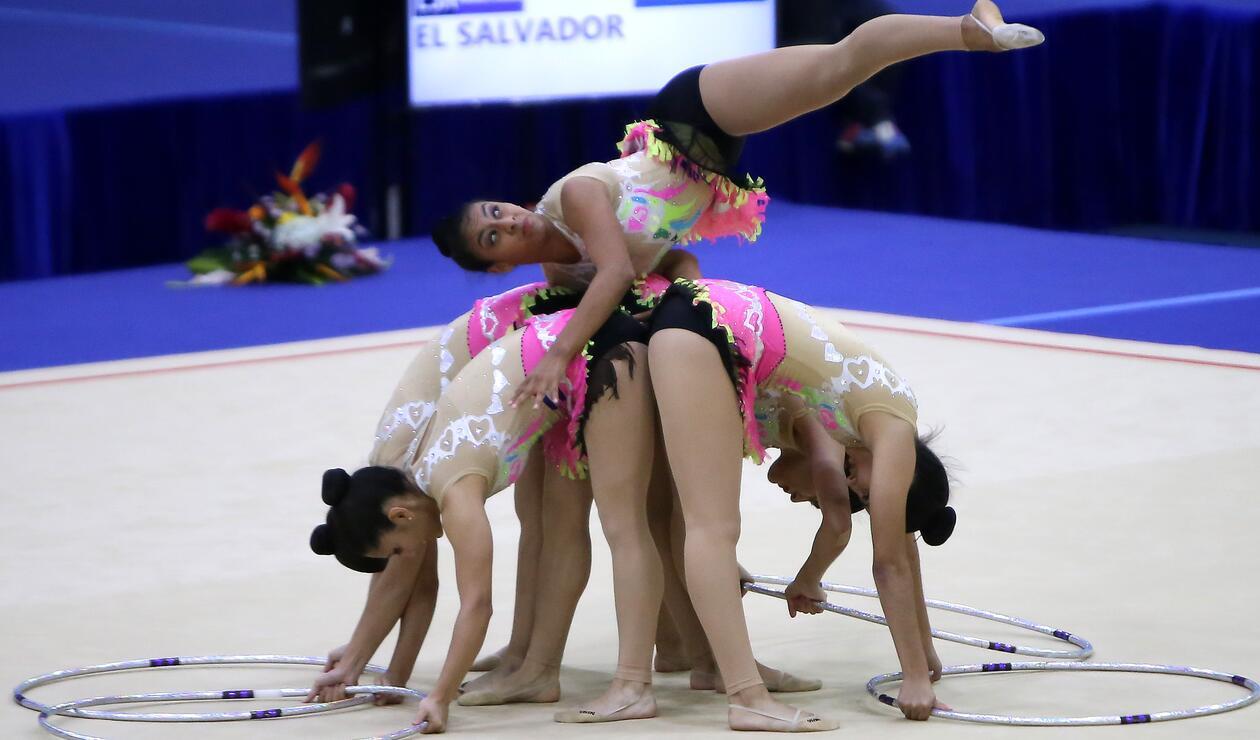 El Salvador participó en la gimnasia rítmica en Barranquilla 2018