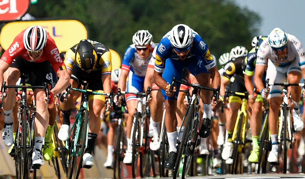 Fernando Gaviria en una de las etapas del Tour de Francia
