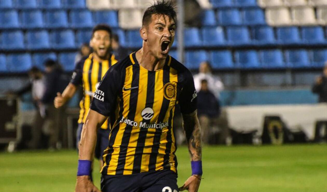 Fernando Zampedri jugando con Rosario Central