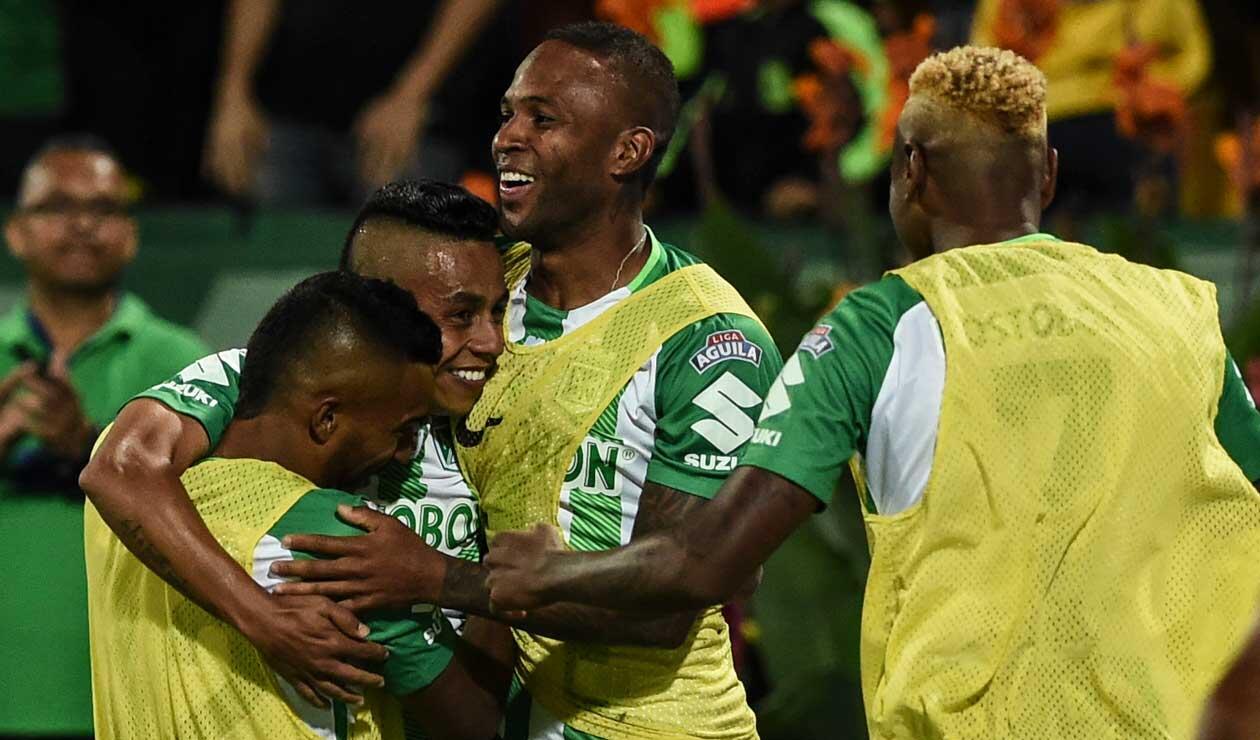 Jugadores de Atlético Nacional celebrando un gol