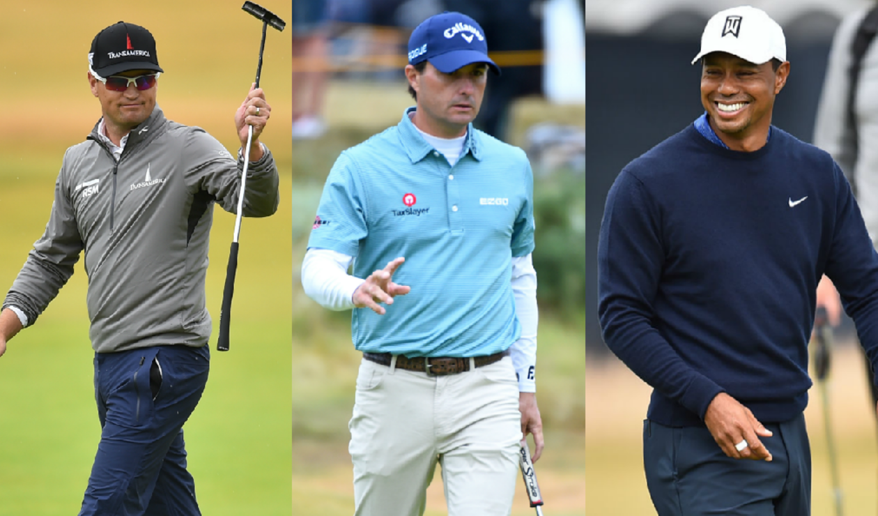Zach Johnson, Kevin Kisner y Tiger Woods