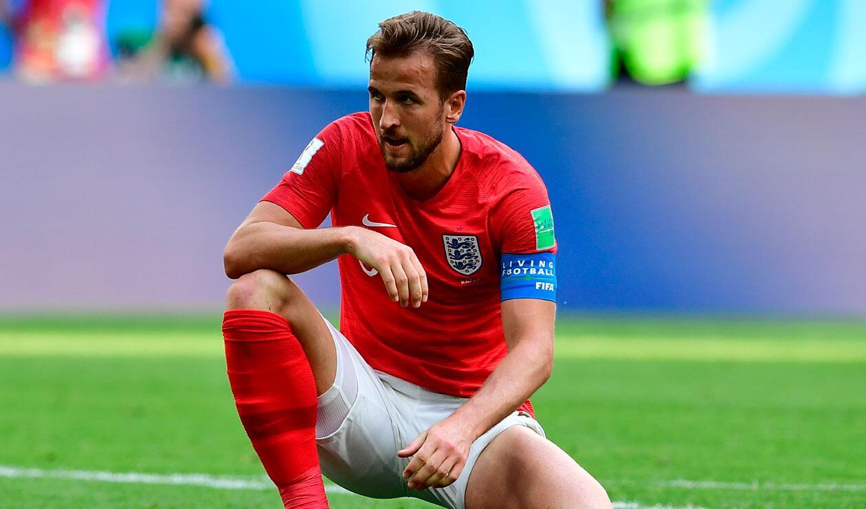 Harry Kane durante el partido de Inglaterra ante Bélgica en el Mundial