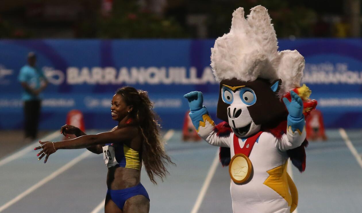Caterine Ibargüen logró la marca de 6,83 metros