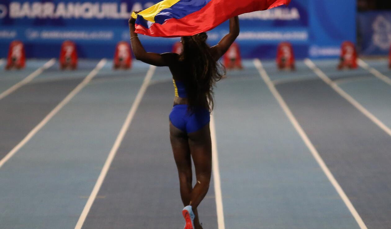 Caterine Ibargüen impuso nueva marca centroamericana