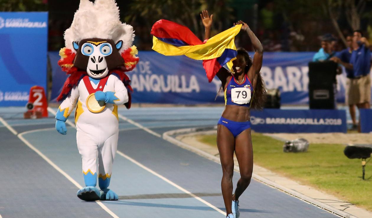 Caterine Ibargüen se reportó con medalla de oro para Colombia