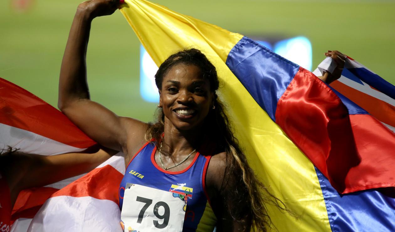 Caterine Ibargüen se colgó la medalla de oro en el salto de longitud