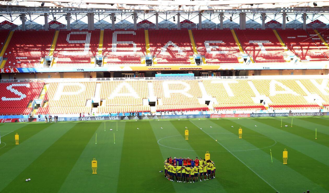 Colombia realizó su último entrenamiento previo a los octavos de final