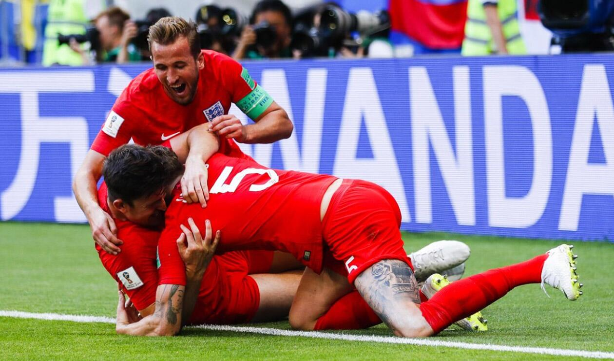 Jugadores de Inglaterra celebrando
