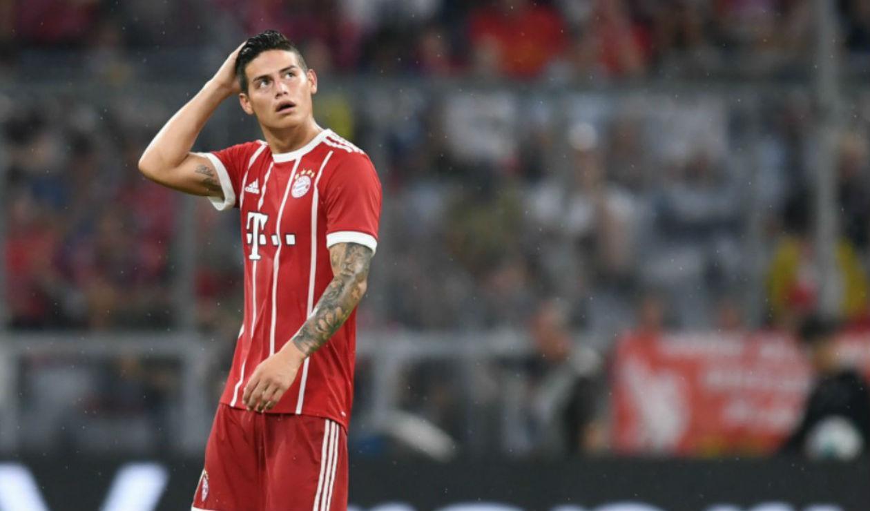 James Rodríguez, jugador colombiano del Bayern Múnich