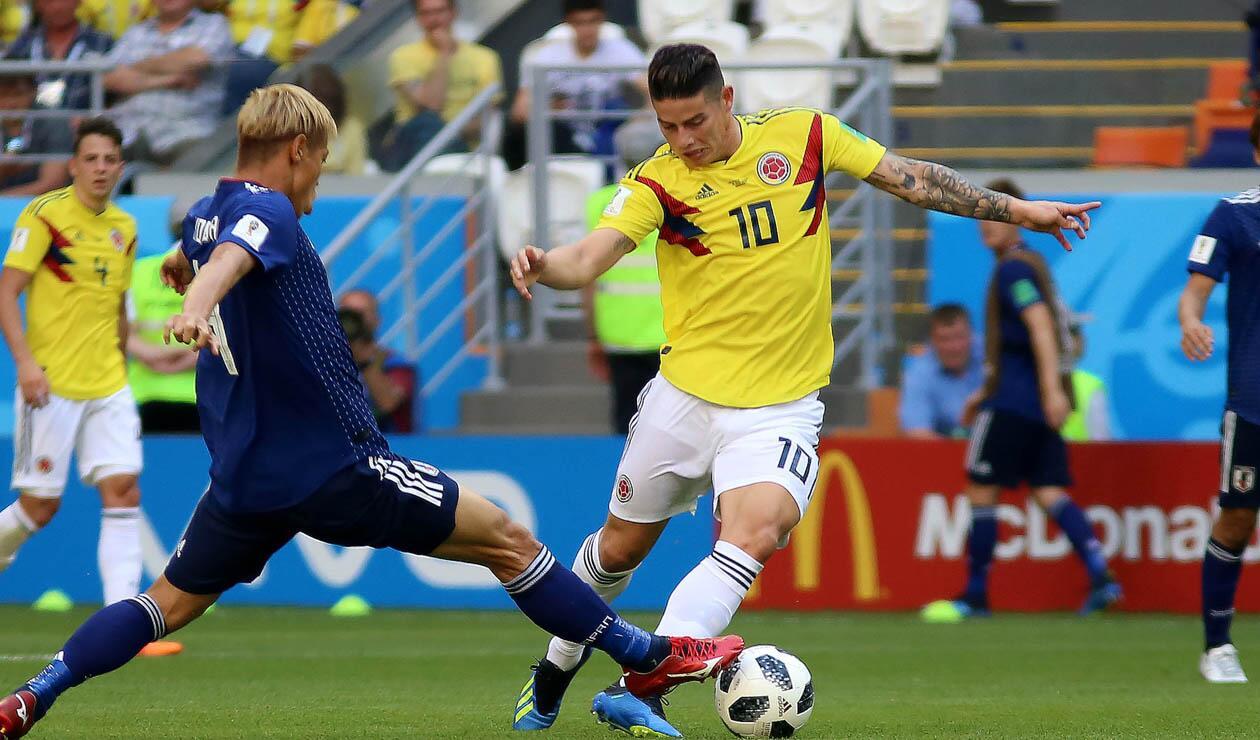 James Rodríguez Colombia Japón Rusia 2018