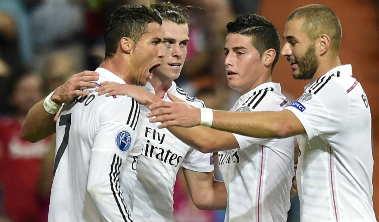 James Rodríguez compartió con la 'BBC' del Real Madrid durante tres temporadas