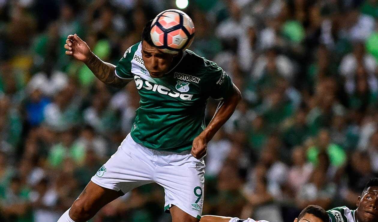 Jéfferson Duque como jugador del Deportivo Cali en la temporada 2017