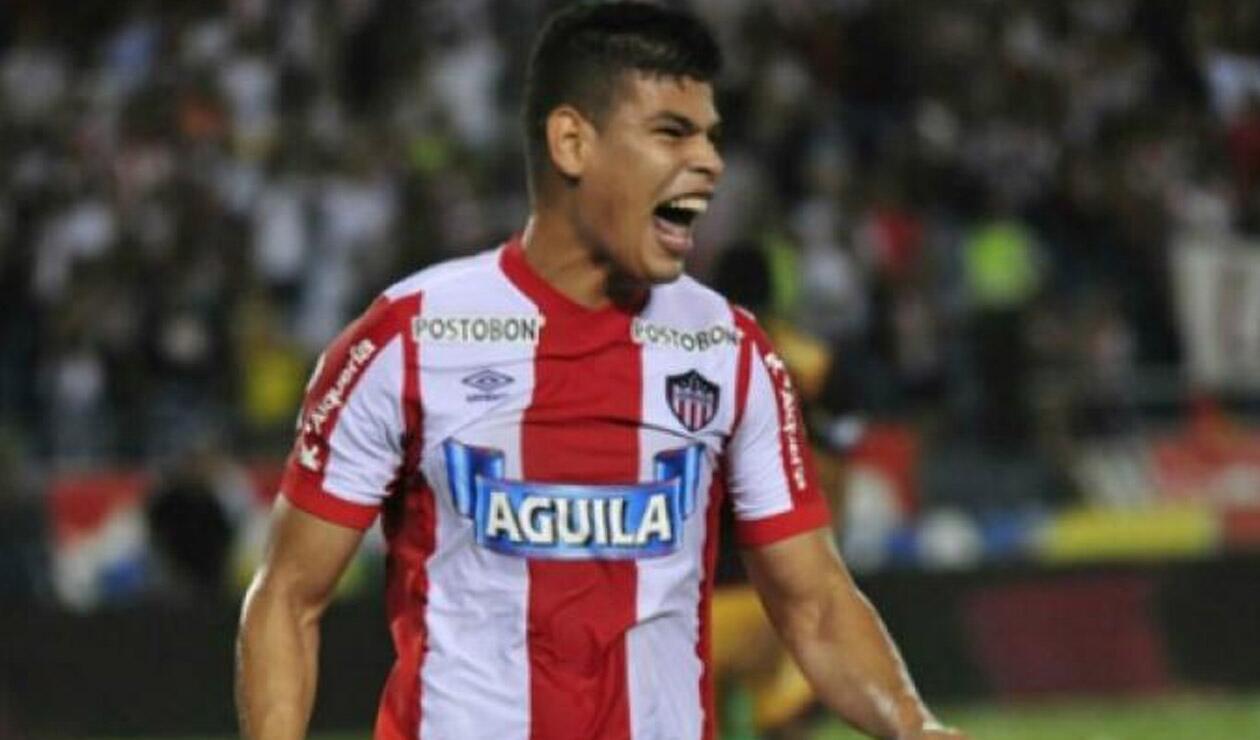 Jorge Arias jugando para el Junior de Barranquilla