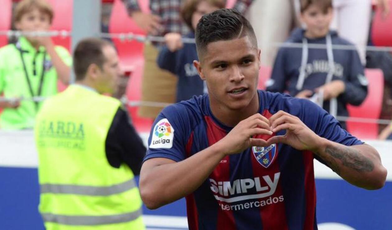 La Liga Española le da la bienvenida a Juan Camilo Hernández
