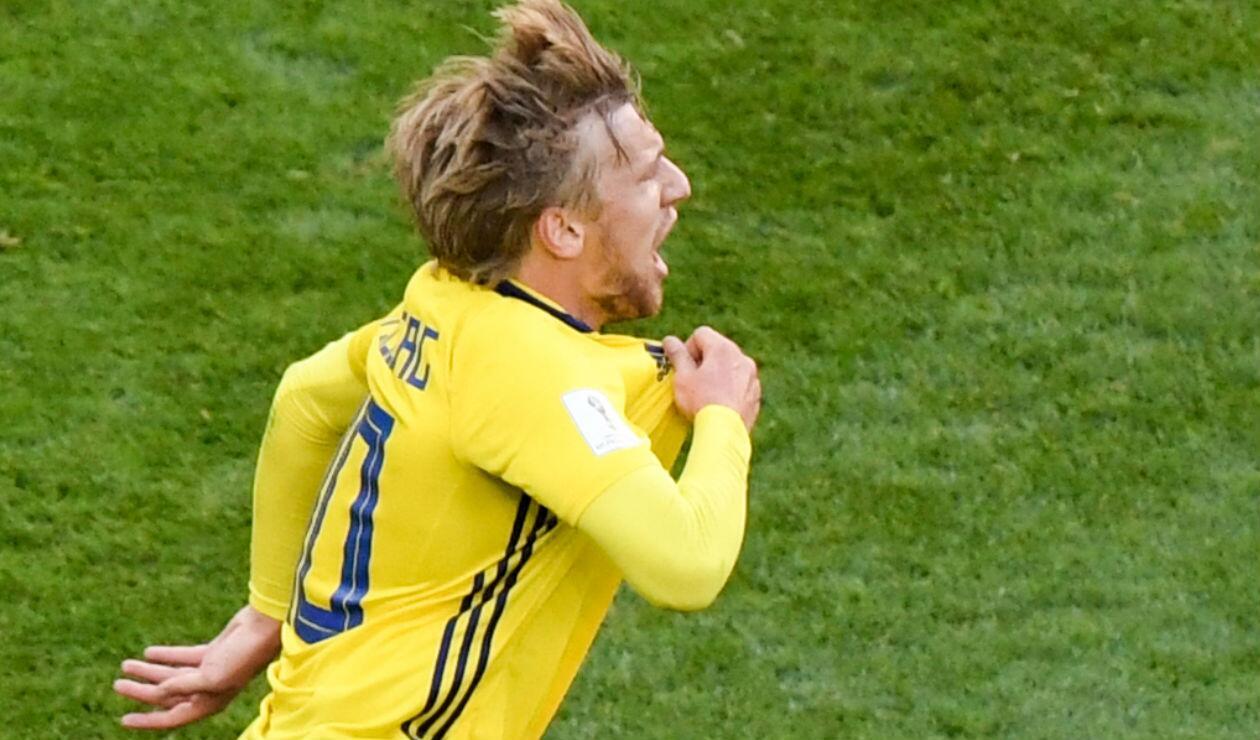 Emil Forsberg, jugador de Suecia