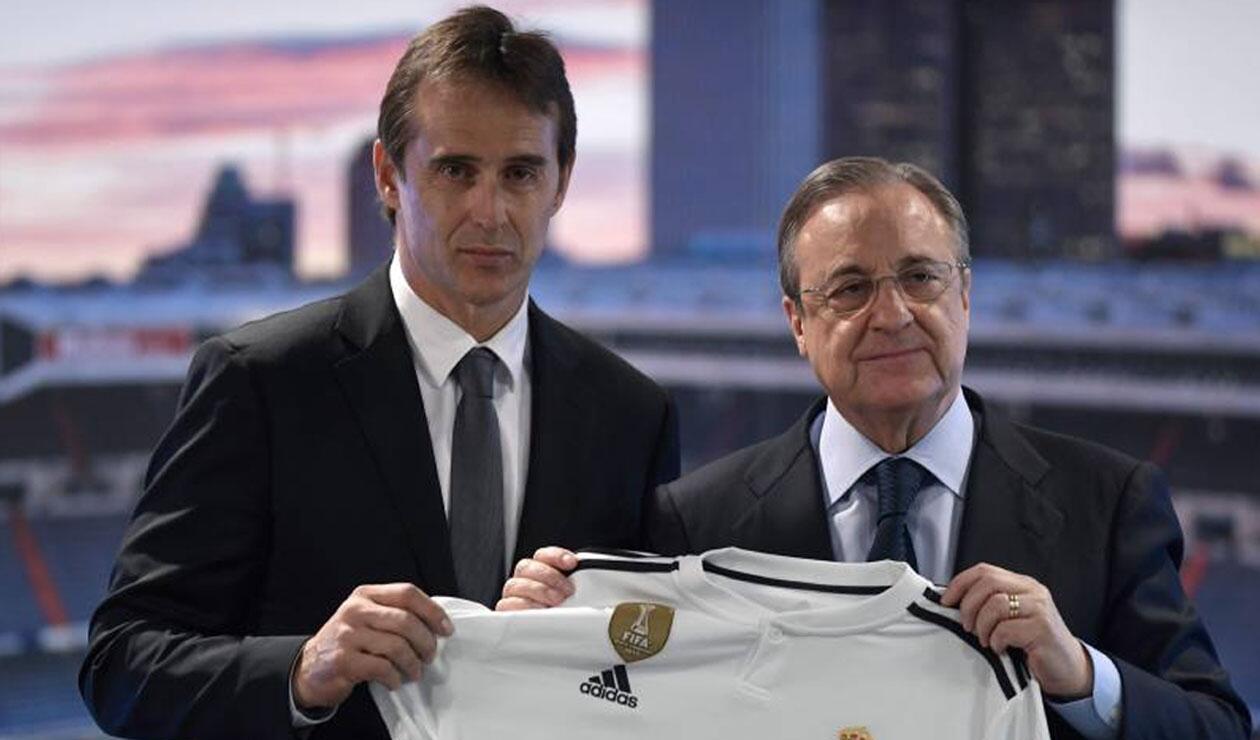 Lopetegui y Florentino Pérez