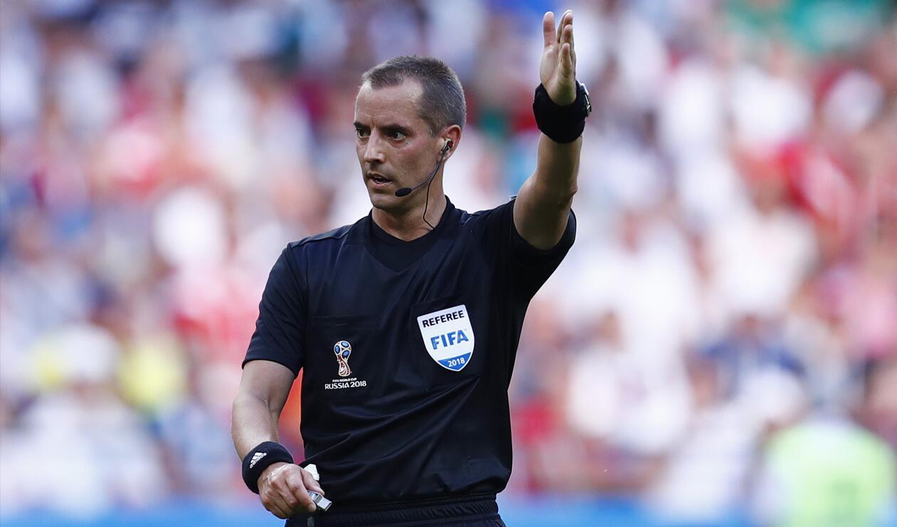 Mark Geiger en juego entre Marruecos y Portugal en Rusia 2018