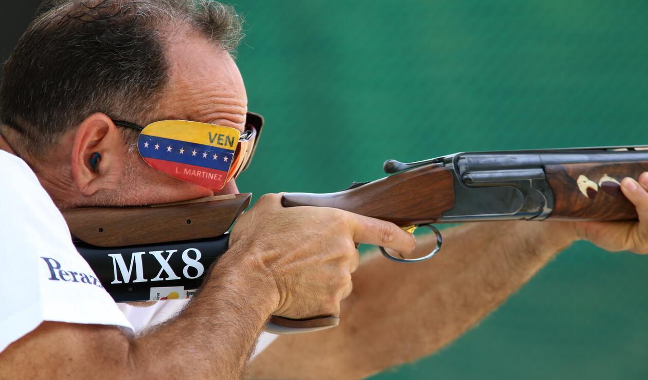 Martínez de Venezuela en la prueba de Trap