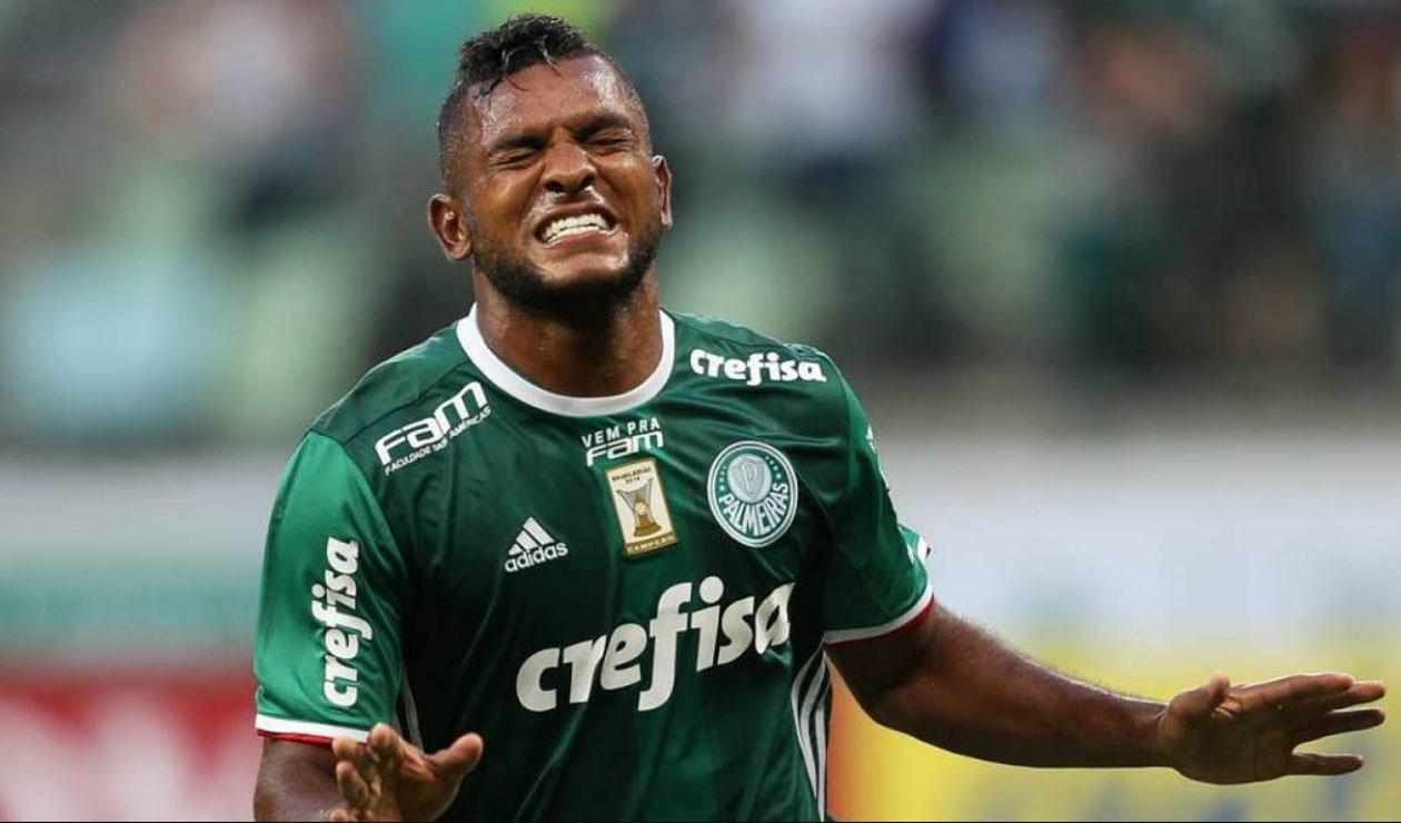 Miguel Ángel Borja, delantero de Palmeiras