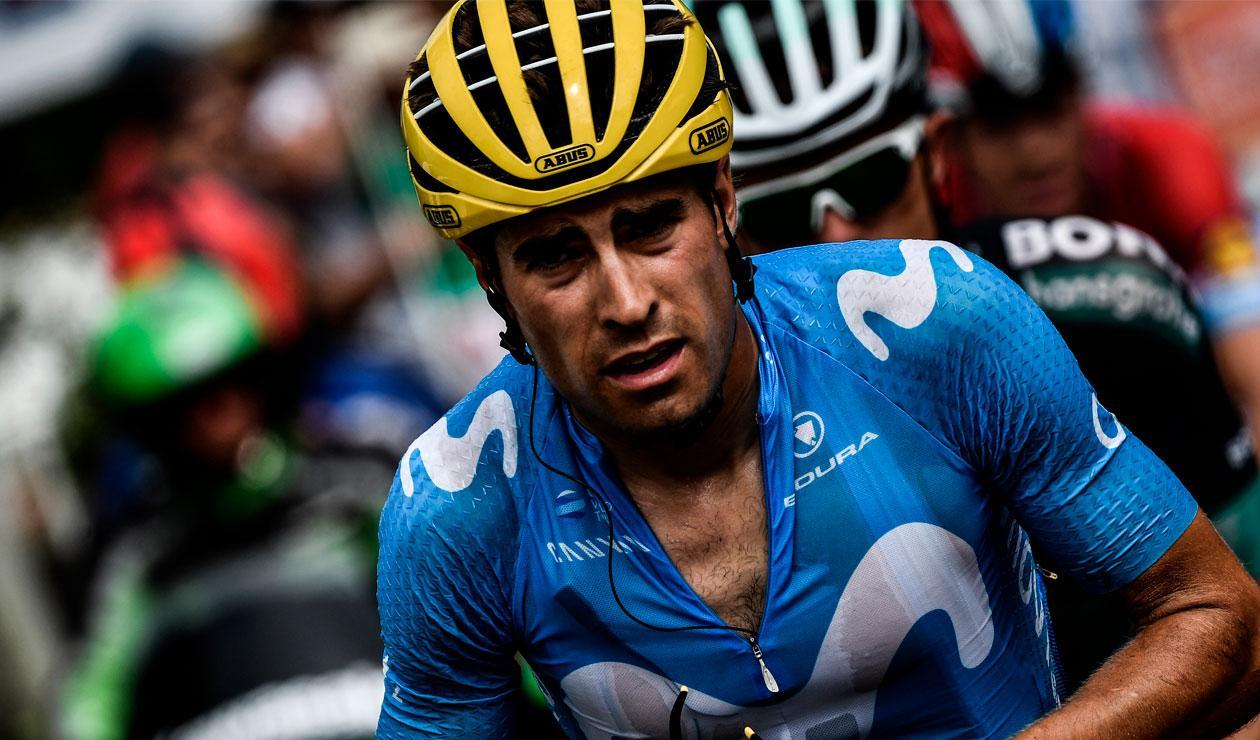Míkel Landa del Movistar en una de las etapas del Tour de Francia