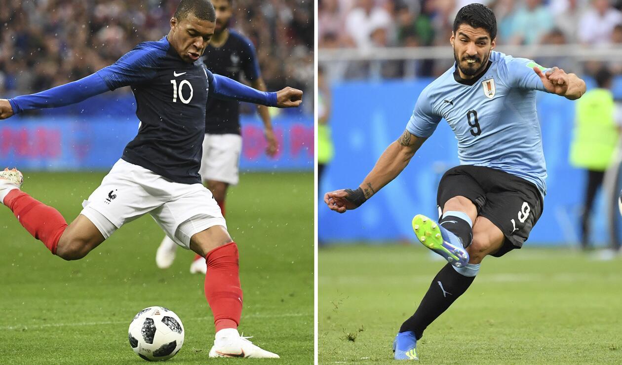 Kylian Mbappé y Luis Suárez se enfrentarán en cuartos de final de Rusia 2018
