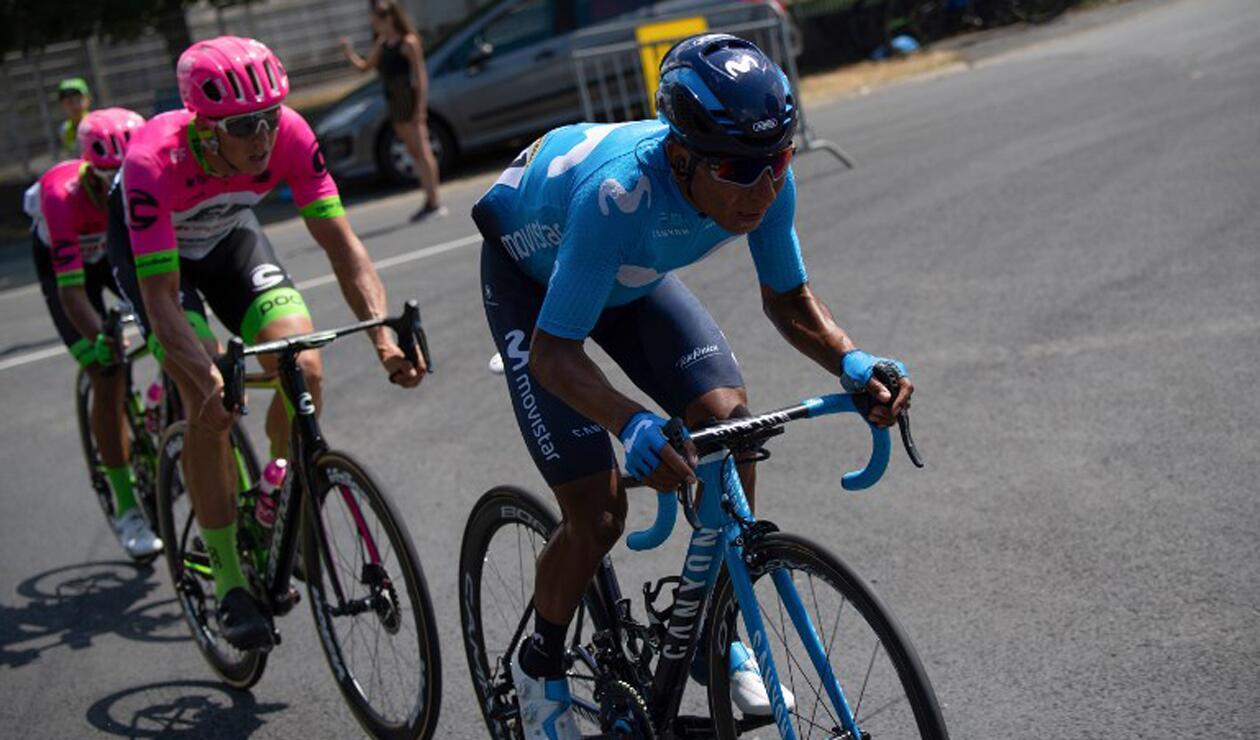 Nairo Quintana perdió tiempo en la primera etapa del Tour