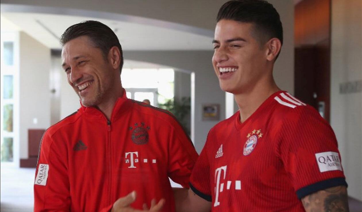 Niko Kovac y James Rodríguez
