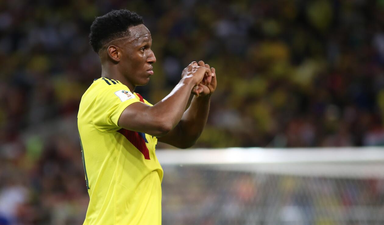 Gol Yerry Mina Colombia Inglaterra Rusia 2018