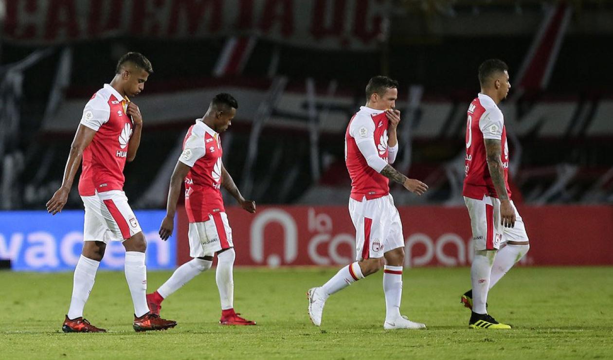Independiente Santa Fe luego de la derrota ante Atlético Nacional en la segunda fecha de la Liga Águila II