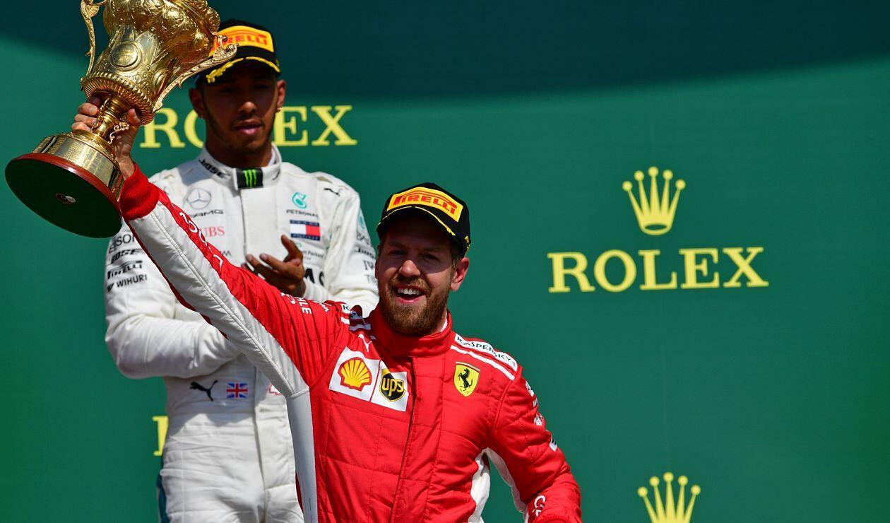 Sebastian Vettel ganador del Gran Premio de F1 británico en el circuito de Silverstone