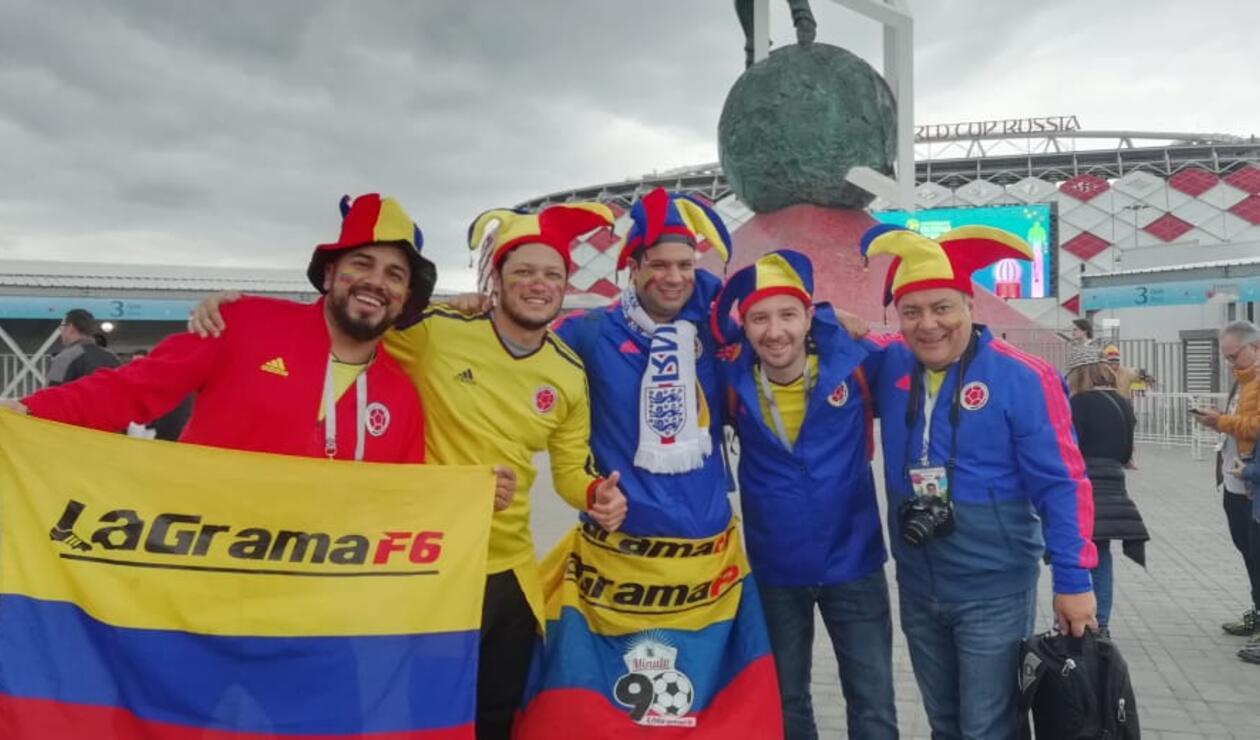 Hinchas de la Selección Colombia se preparan para duelo ante Inglaterra