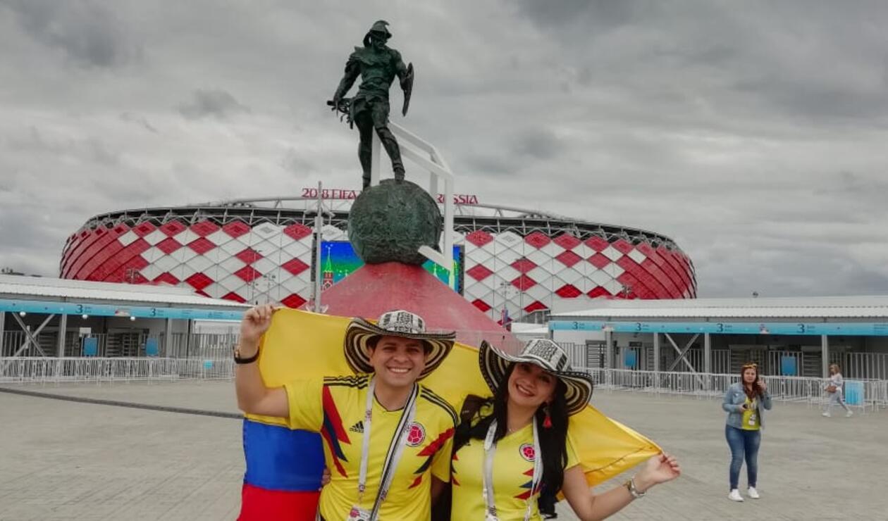 Hinchas colombianos en el Spartak Stadium