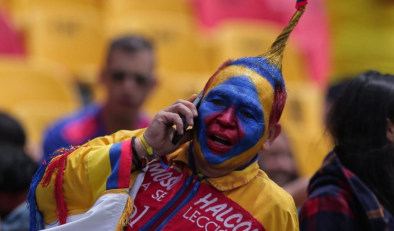 Hincha de la Selección Colombia en el estadio El Campín