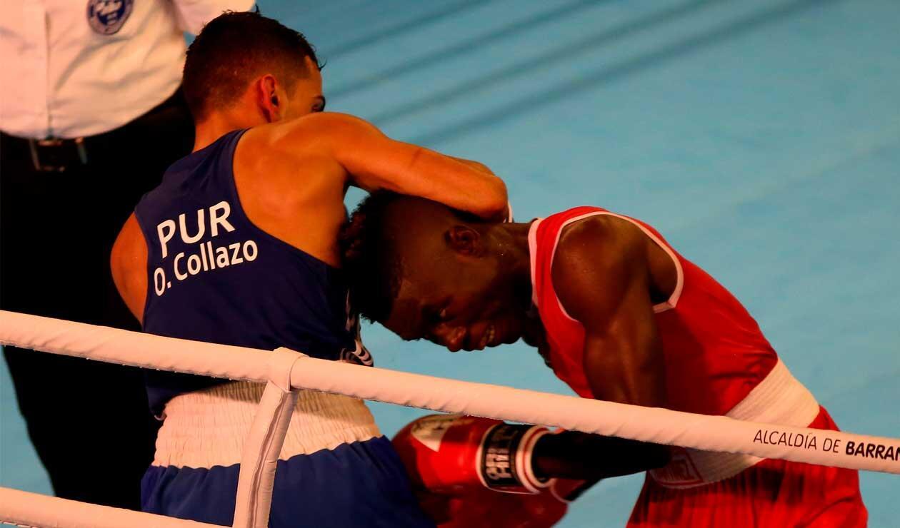 Yuberjen Martínez de Colombia contra Oscar Collazo de Puerto Rico en los Juegos Centroamericanos y del Caribe Barranquilla 2018