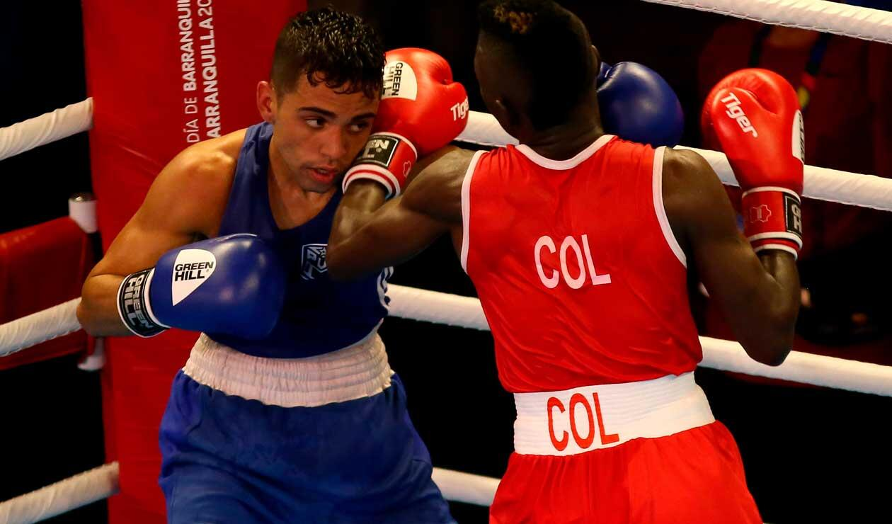 Yuberjen Martínez de Colombia y Oscar Collazo de Puerto Rico se enfrentan en los Juegos Centroamericanos y del Caribe Barranquilla 2018