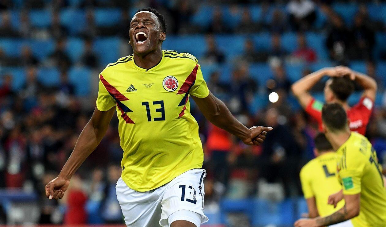 Yerry Mina fue el goleador de Colombia en el Mundial de Rusia