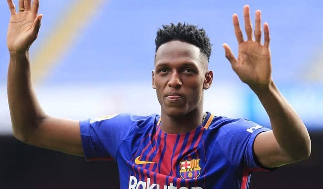 Yerry Mina, incorporado por el Barcelona a comienzo de 2018